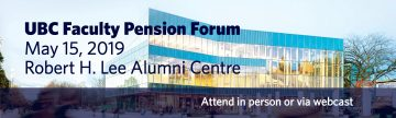 Pension Forum May 15, 2019